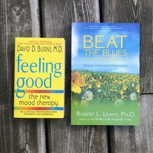 2 Paperback Self Help Books Depression New